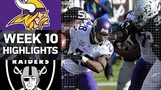 Vikings vs. Raiders | Week 10 Highlights | NFL