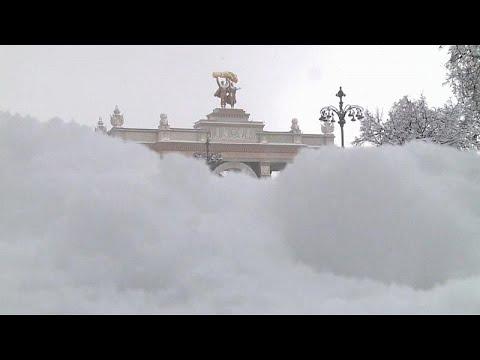 Heftiger Schneefall in Moskau