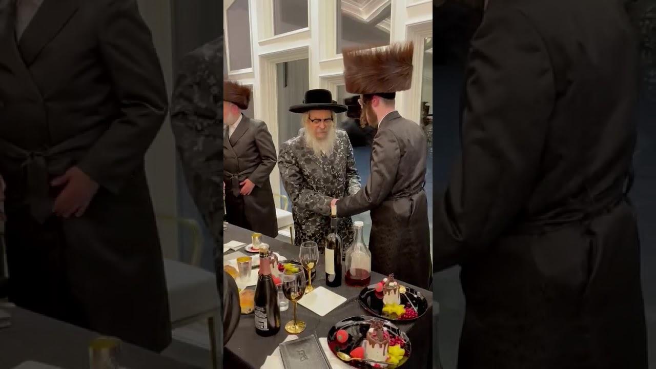 Satmar Rebbe R' Aharon Dances At Sheva Brochos - Adar 5781