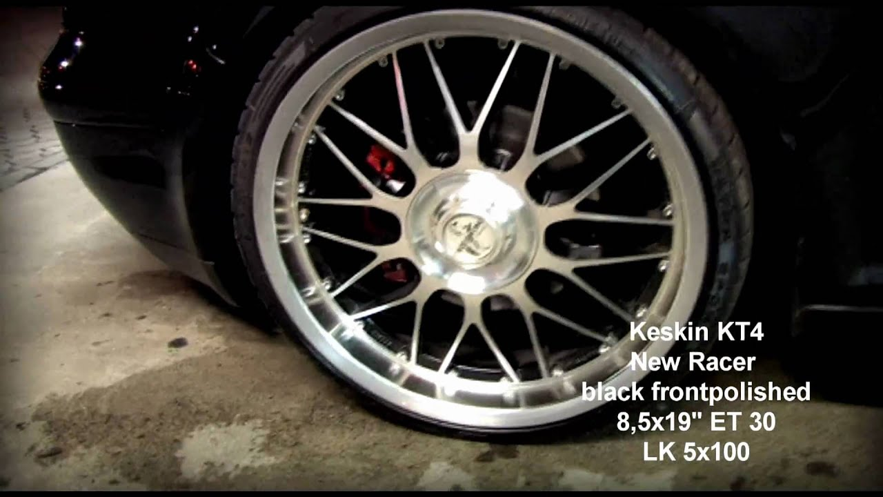 keskin kt4 new racer black frontpolished 8 5x19 et30. Black Bedroom Furniture Sets. Home Design Ideas