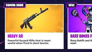 *NEW* HEAVY AR (AK 47) COMING SOON!! (Fortnite LIVE Gameplay)
