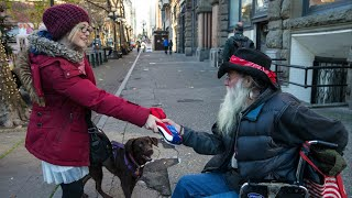 A HOMELESS WOMAN Shows Us Why It Feels Good to Give (+ Seattle's tent cities/tiny homes)