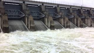 Lake Lavon Dam Spillway @ 25000 cfs 5/30/15