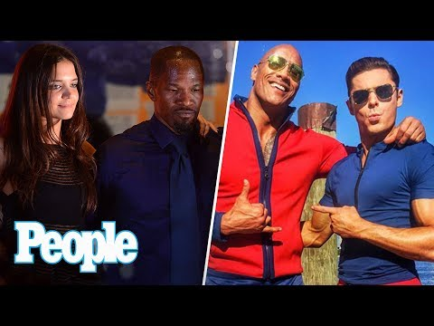 Dwayne Johnson Vs. Zac Efron, Jamie Foxx & Katie Holmes Board Private Jet | People NOW | People