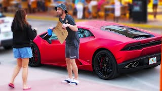 Homeless Picking Up Girls With His Lamborghini | Social Experiment
