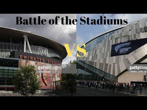 Emirates stadium (Arsenal) vs Tottenham Hotspur stadium (Spurs)