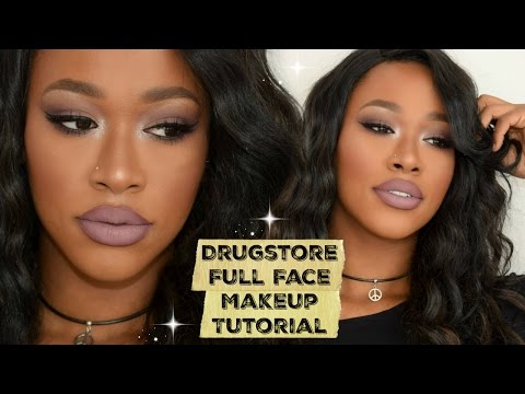 Drugstore Full Face Makeup Tutorial -MakeupByTammi - 동영상