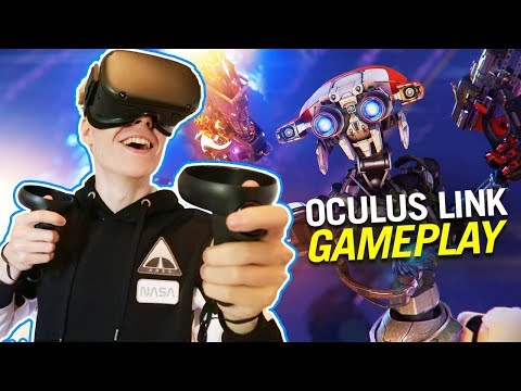 How good is Oculus Link? | Hands-on First Impressions (Oculus Quest VR Gameplay)