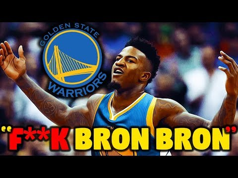 """Warriors Rookie says """"F*CK BRON BRON!"""" when he finds out he's on GSW 