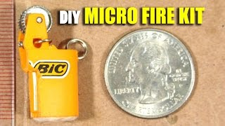 Micro Fire Starting Kit Howto