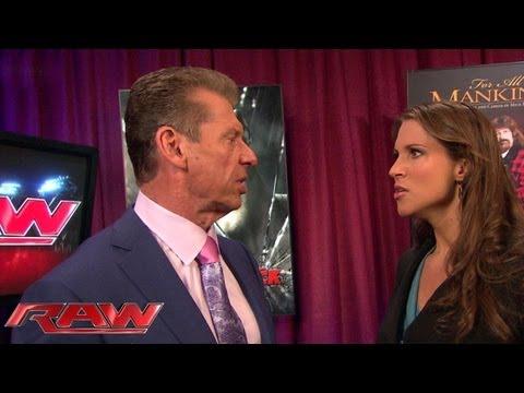 Stephanie confronts Mr. McMahon about Triple H: Raw, June 10, 2013