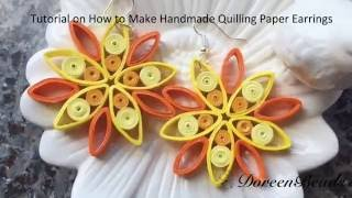 Doreenbeads Jewelry Making Tutorial - How to DIY Quilling Paper Earrings