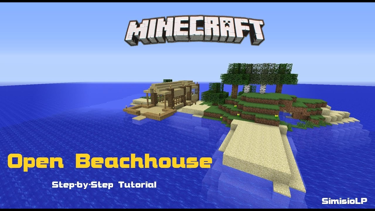 Minecraft - Beachhouse Simple Step-by-Step Tutorial [Full ...