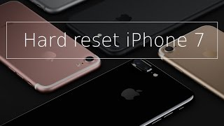 Hard reset iPhone 7,6s,6,5s,5c,5,iPad or iPod - reset to factory settings