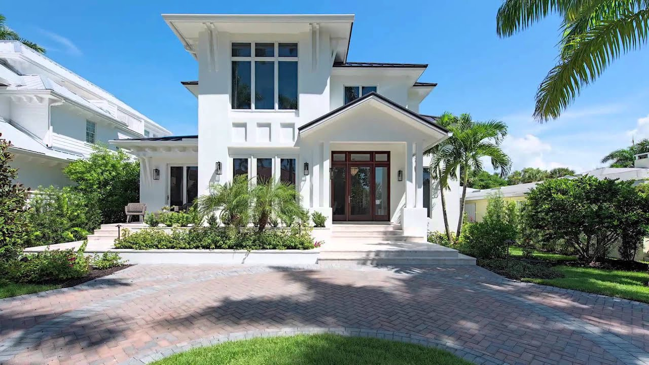 Dream houses of old naples youtube for Modern homes for sale in florida
