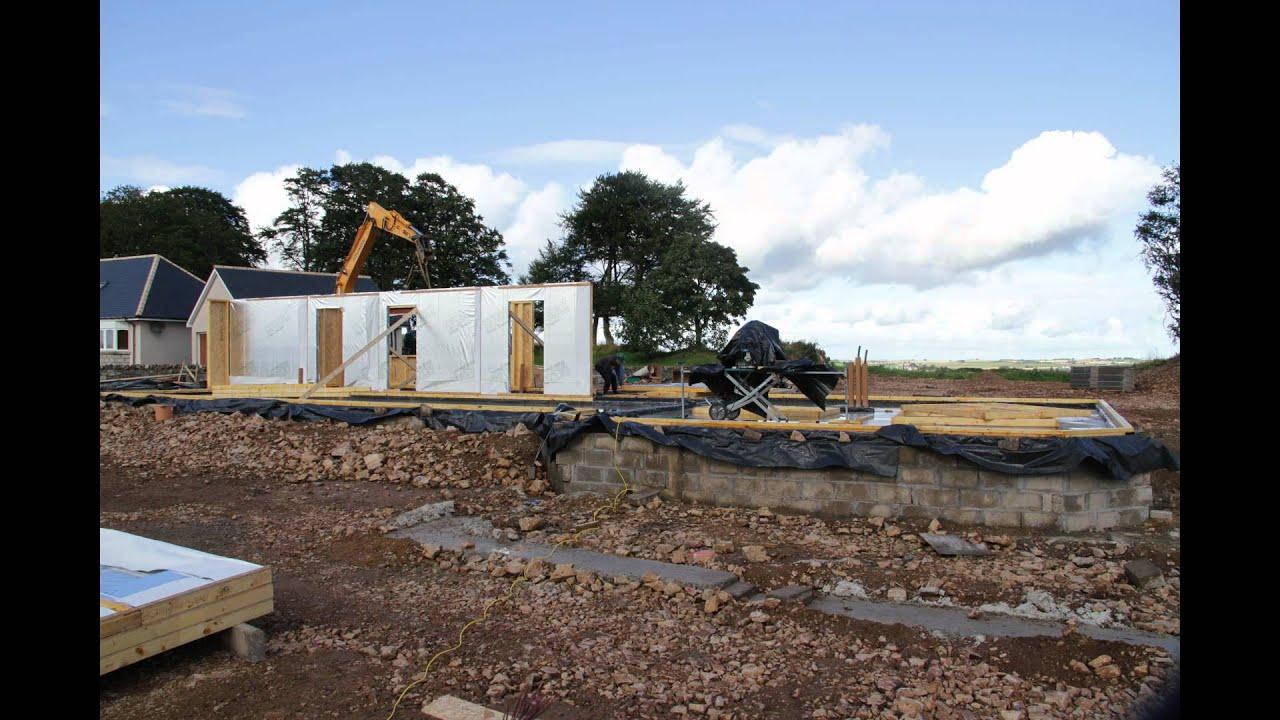 timber kit house frame youtube