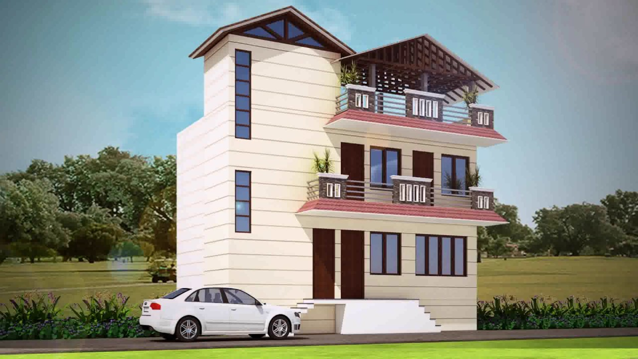 Triplex House Design In India - YouTube