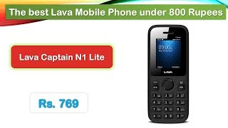 Best Mobile Phone under 800 Rupees (हिंदी में) | Lava Captain N1 Lite