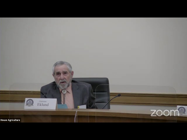 House Agriculture, State and Public Lands and Water Resources Meeting, March 23, 2021