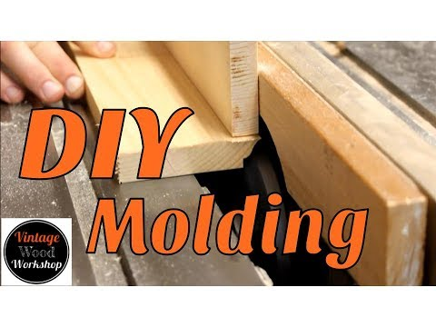 Making Molding on the Table Saw.  DIY.  How to. Vintage Wood Workshop
