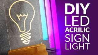 DIY led lamp  - acrilic sign light