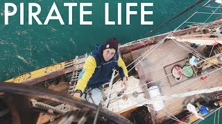 LIVING ON A RUSSIAN PIRATE SHIP (4K) - Sailing Ireland Part 1