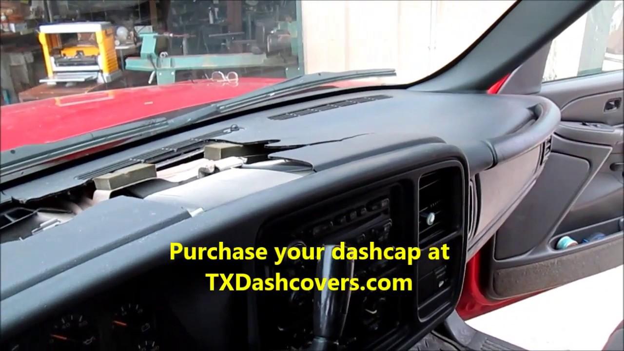 2004 Chevy Silverado Dash Cap Installation Before After