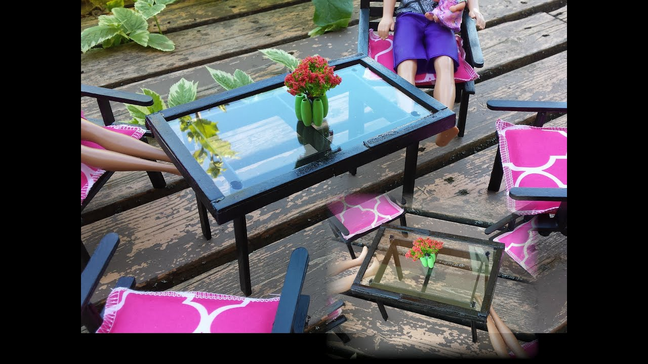 How to make a Doll Patio Table
