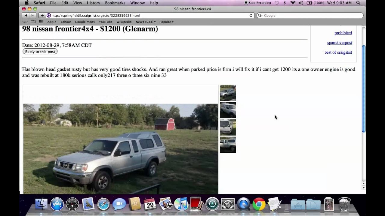 Craigslist Springfield Illinois Used Cars And Trucks Low Prices Under 1000 For Sale By Owner
