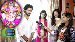 Ssharad Malhotra And Girlfriend Pooja Bisht Celebrate Ganpati at His Home | Ganesh Chaturthi