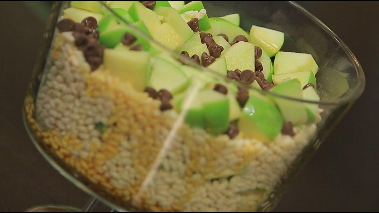 حلو التفاح الأخضر بالكراميل : غادة جميل