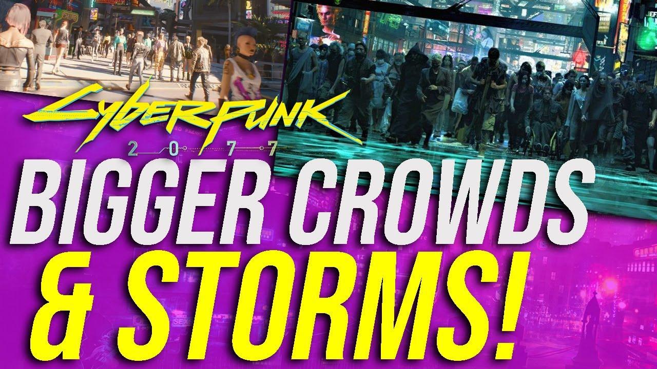 Cyberpunk 2077 News - Bigger NPC Crowds, Badlands Storms, Eating & Drinking & More! thumbnail