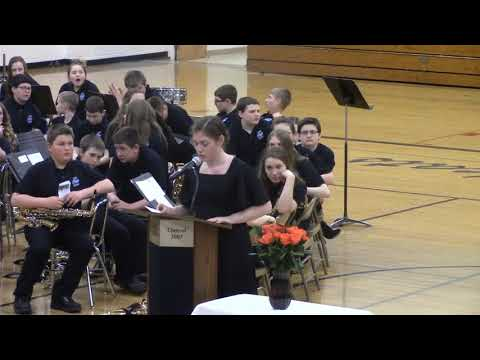 Lena High School Band Spring Concert 2018