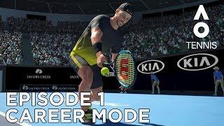 AO TENNIS | CAREER MODE #1 | FIRST MATCH!