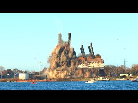 Detroit Edison Power Plant Implosion