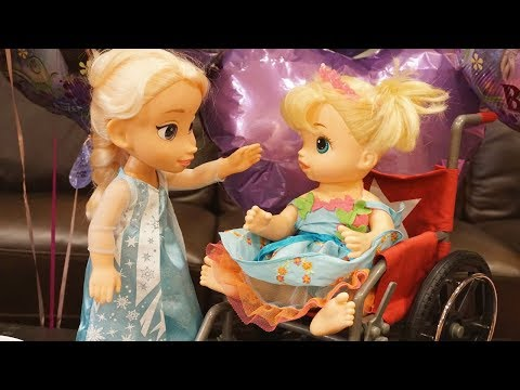 BABY ALIVE Surprise Frozen Birthday Party For ERIN!