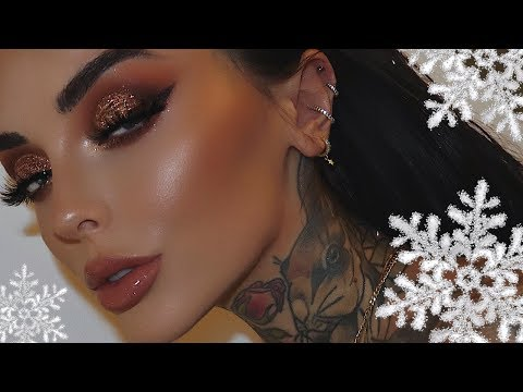 BRONZED & SPARKLY CHRISTMAS MAKEUP | JINGLE BELLE CHRISTMAS thumbnail