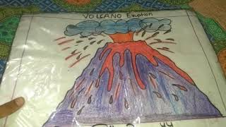 How to make poster on 🌋 volcano eruption?