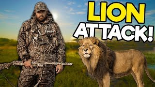 Hunters Get Attacked by Lions in the Savanna! - The Hunter Call of the Wild Multiplayer