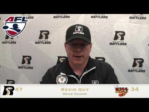 5-21-16; Coach Kevin Guy Post Game Press, Arizona Rattlers V. LA Kiss