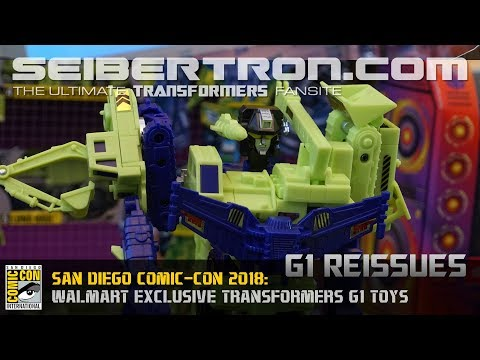 Transformers G1 products shown at SDCC 2018 (Generation One)