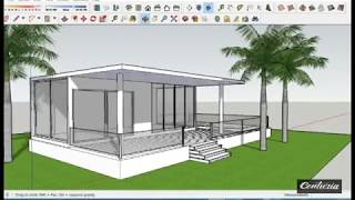 Sketchup - Tiny House Design  Speed Build