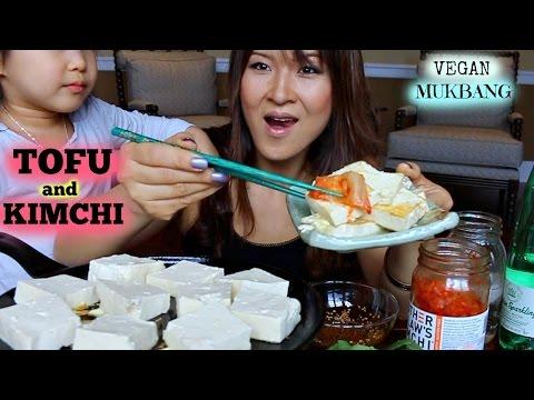 TOFU AND KIMCHI • VEGAN • Mukbang & Recipe