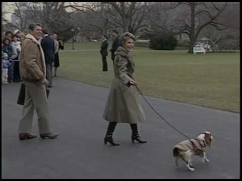 President Reagan's and Nancy Reagan's Departure for Camp David on January 10, 1986