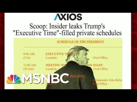 The Hypocrisy Of The President's 'Executive Time'' | Morning Joe | MSNBC