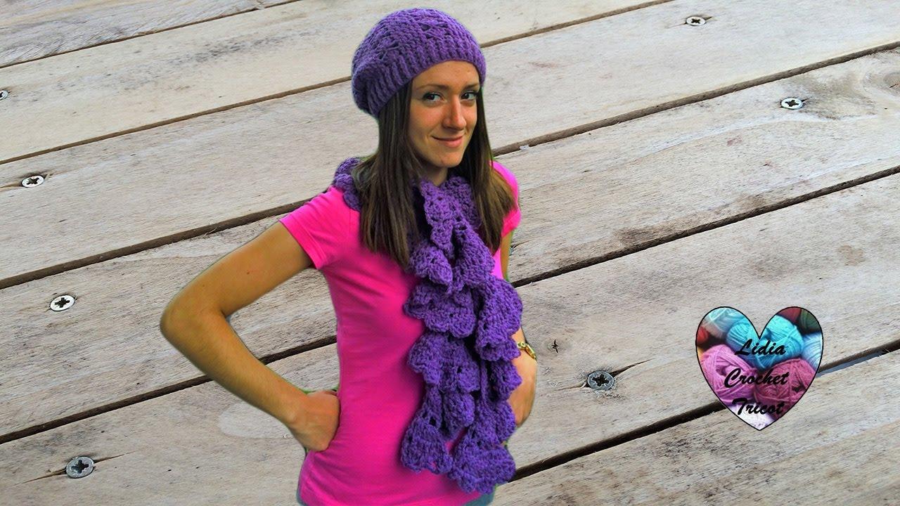 la moitié 85dde 95cc9 Ensemble bonnet echarpe femme au crochet facile 2/2 / Beanie and scarf  women very easy crochet