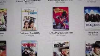 Part 2 iTunes TV & Movie library