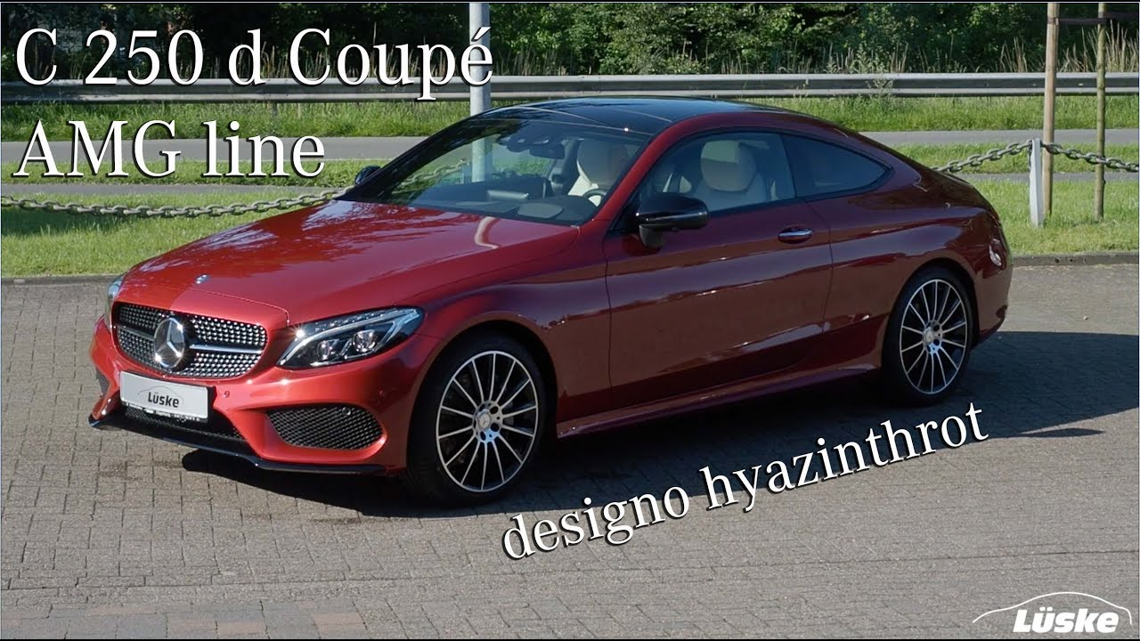 c 250 d coup i amg line i designo hyazinthrot i mercedes. Black Bedroom Furniture Sets. Home Design Ideas