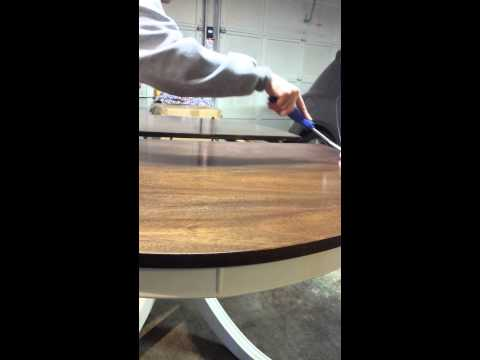 How to apply a polyacrylic top coat on a table top
