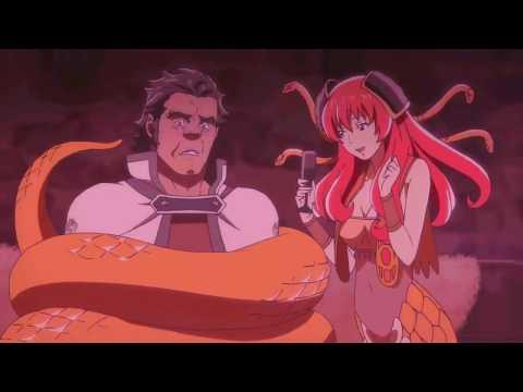 A Lamia (Snake Girl) Teasing Her Prisoner